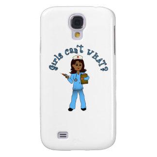 Nurse in Blue Scrubs (Dark) Galaxy S4 Case