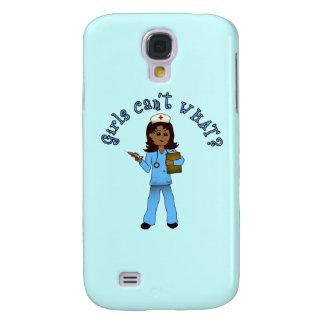Nurse in Blue Scrubs (Dark) Samsung Galaxy S4 Cases