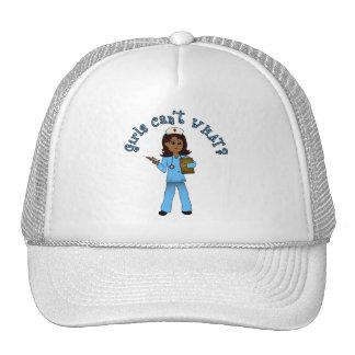Nurse in Blue Scrubs (Dark) Trucker Hat