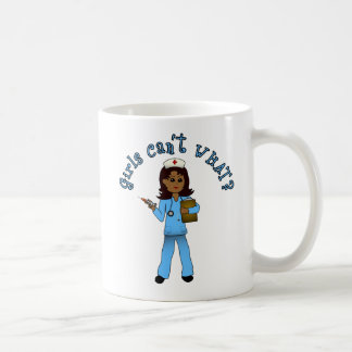 Nurse in Blue Scrubs (Dark) Classic White Coffee Mug
