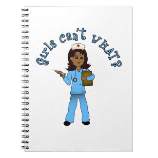 Nurse in Blue Scrubs (Dark) Notebook