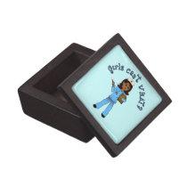 Nurse in Blue Scrubs (Dark) Premium Gift Boxes