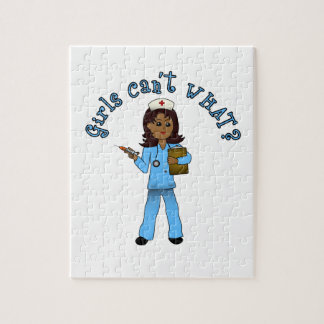 Nurse in Blue Scrubs (Dark) Puzzle