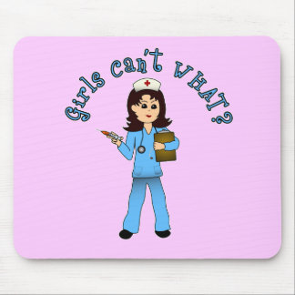 Nurse in Blue Scrubs (Light) Mouse Pad