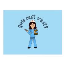 Nurse in Blue Scrubs (Light) Post Card
