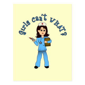 Nurse in Blue Scrubs (Light) Postcard