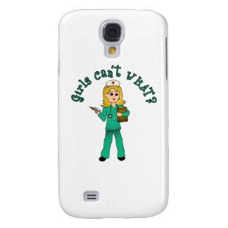 Nurse in Green Scrubs (Blonde) Samsung Galaxy S4 Case