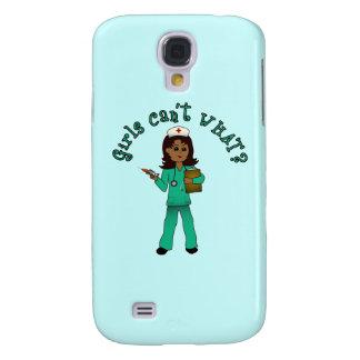 Nurse in Green Scrubs (Dark) Galaxy S4 Case