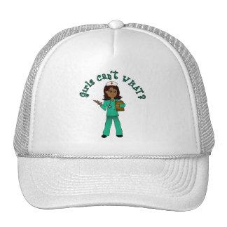 Nurse in Green Scrubs (Dark) Trucker Hat