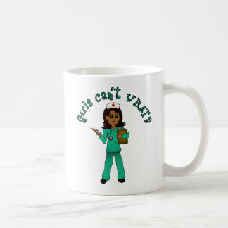 Nurse in Green Scrubs (Dark) Classic White Coffee Mug