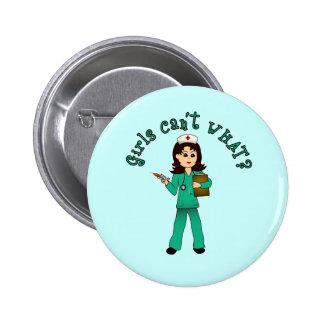 Nurse in Green Scrubs Light Button