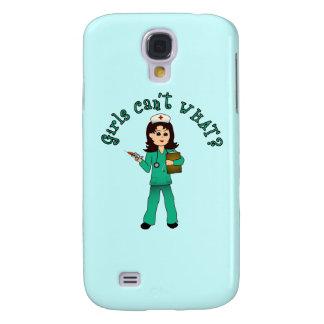 Nurse in Green Scrubs (Light) Samsung Galaxy S4 Covers