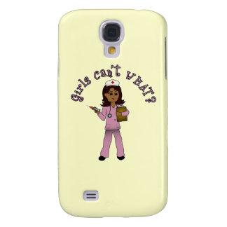 Nurse in Pink Scrubs (Dark) Samsung Galaxy S4 Cover