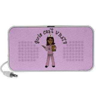 Nurse in Pink Scrubs (Dark) Mp3 Speaker
