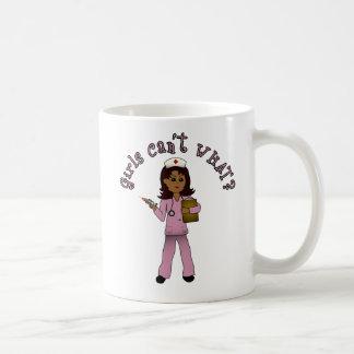 Nurse in Pink Scrubs (Dark) Classic White Coffee Mug