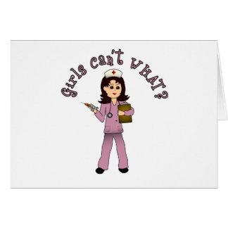 Nurse in Pink Scrubs (Light) Greeting Card