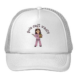 Nurse in Pink Scrubs (Light) Trucker Hat