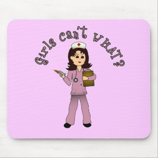 Nurse in Pink Scrubs (Light) Mouse Pad