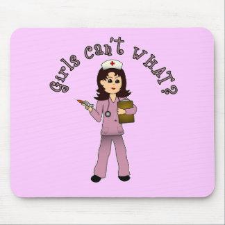 Nurse in Pink Scrubs (Light) Mouse Pad