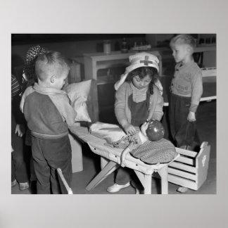 Nurse in Training, 1943 Poster