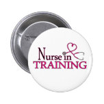 Nurse in Training - Pink Pinback Buttons