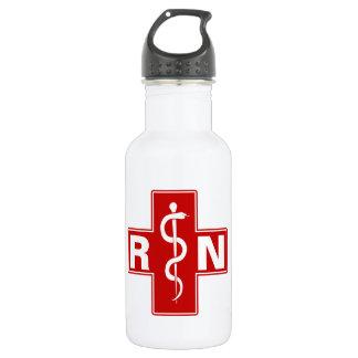 Nurse Initials Stainless Steel Water Bottle