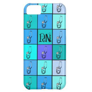 Nurse iPhone 4 Case Stethoscopes Blue