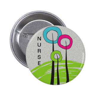 Nurse iPhone Cases Whimsical Trees 2 Inch Round Button