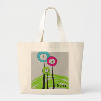 Nurse iPhone Cases Whimsical Trees Large Tote Bag