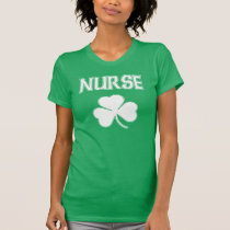 Nurse Irish Shamrock St Patrick's Day T-Shirt