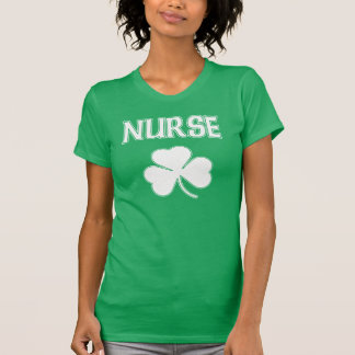 Nurse Irish Shamrock St Patrick's Day T-Shirt