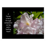 Nurse is born art Compassion Caring Healing Touch Poster