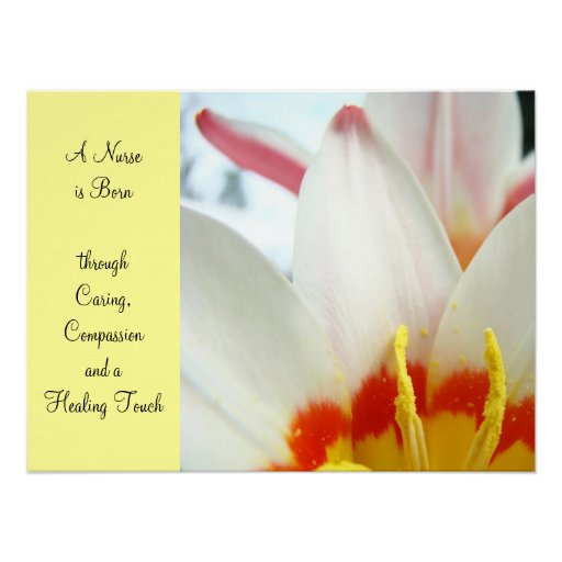 Nurse is Born art prints Caring Compassion Healing Poster