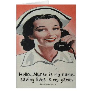 Nurse is my Name Cards