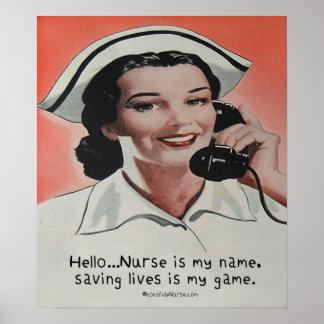 Nurse is my Name Print