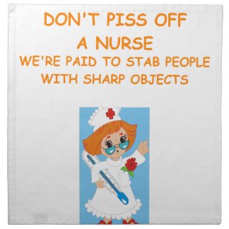 nurse joke cloth napkin