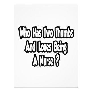 Nurse Joke Two Thumbs Flyer