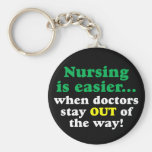 Nurse - Just stay out of the way Basic Round Button Keychain