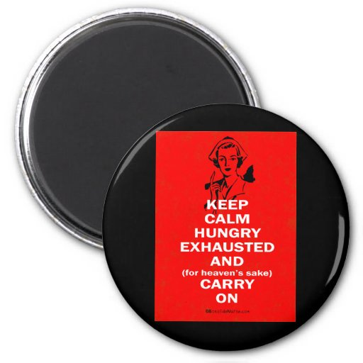 Nurse - Keep Calm and Carry On 2 Inch Round Magnet
