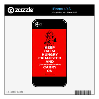 Nurse - Keep Calm and Carry On iPhone 4S Decals