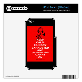 Nurse - Keep Calm and Carry On iPod Touch 4G Decal