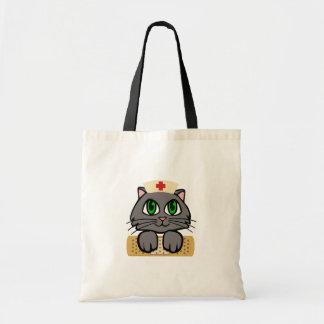 Nurse Kitten Tote Bags