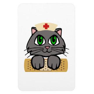 Nurse Kitten Rectangular Photo Magnet