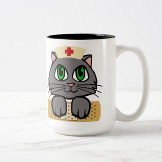 Nurse Kitten Two-Tone Coffee Mug