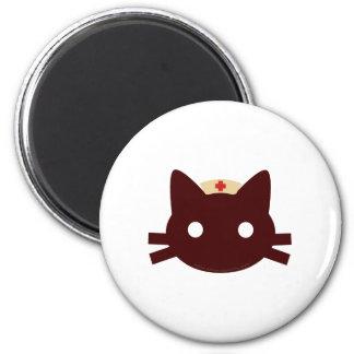 Nurse Kitty 2 Inch Round Magnet