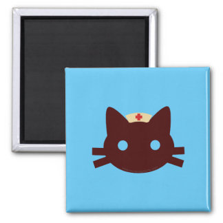 Nurse Kitty 2 Inch Square Magnet