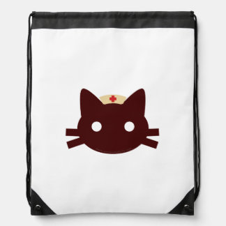 Nurse Kitty Drawstring Bag