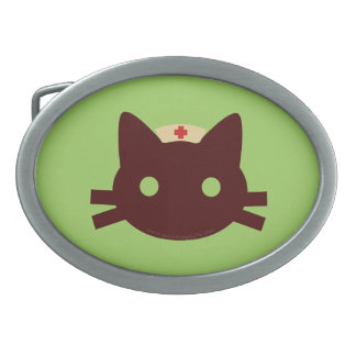Nurse Kitty Oval Belt Buckle