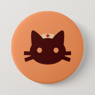 Nurse Kitty Pinback Button
