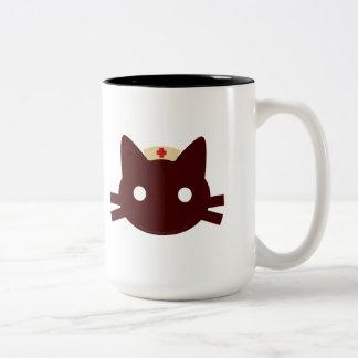 Nurse Kitty Two-Tone Coffee Mug
